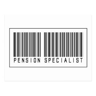De Specialist van het Pensioen van de Briefkaart