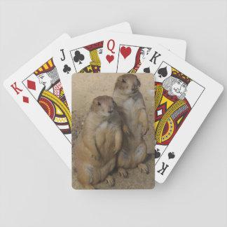 De Speelkaart van de prairiehond Pokerkaarten