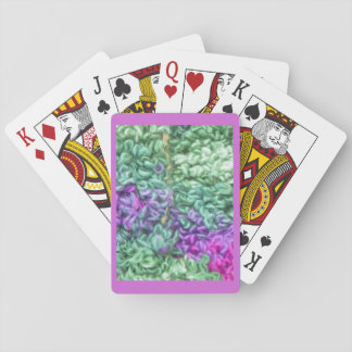 De speelkaarten, breien, paars speelkaarten