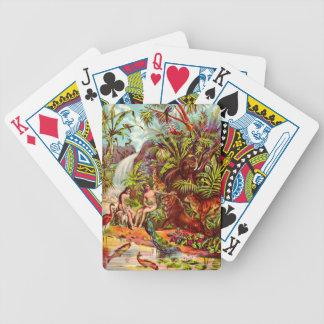 De speelkaarten van Adam en van de Vooravond Pak Kaarten