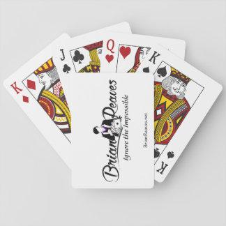 De Speelkaarten van Brian Reaves Logo met website
