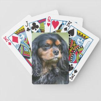 De Speelkaarten van Charles Spaniel van de zwarte  Poker Kaarten