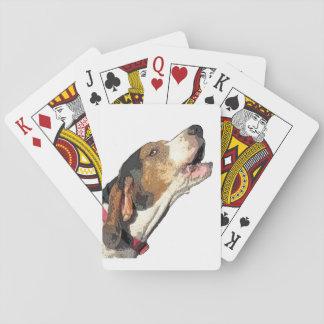 De Speelkaarten van Coonhound van de Leurder van