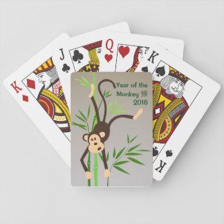 De speelkaarten van de Aap van de dierenriem