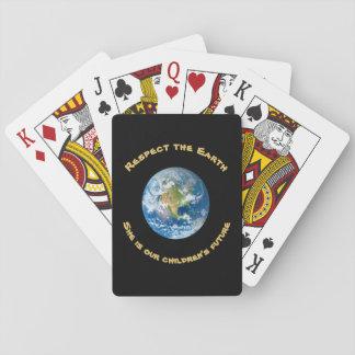 De Speelkaarten van de Aarde van de eerbied