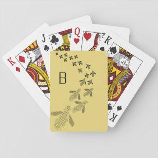 De Speelkaarten van de Bij van het monogram