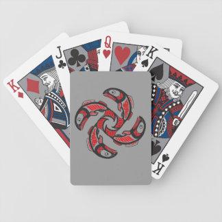 De Speelkaarten van de Cyclus van de zalm Poker Kaarten
