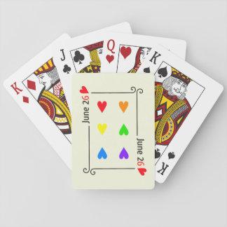 De Speelkaarten van de Dag van de Gelijkheid van
