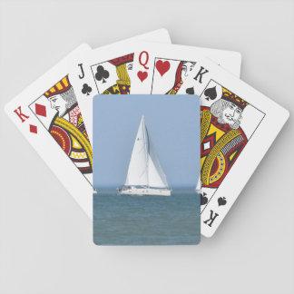 De Speelkaarten van de Foto van de zeilboot