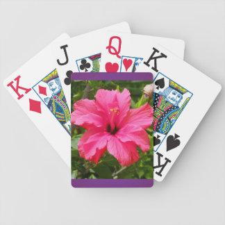 De Speelkaarten van de hibiscus Poker Kaarten