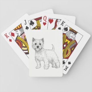 De Speelkaarten van de hond - het Hoogland Terrier