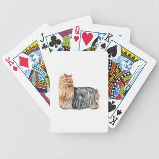 De Speelkaarten van de Hond van Yorkshire Terrier Pak Kaarten