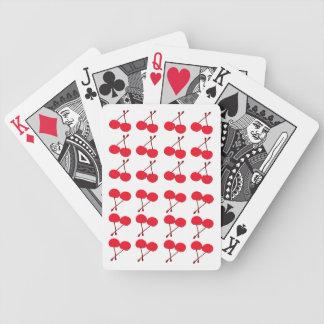 De speelkaarten van de kers poker kaarten