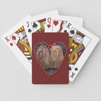 De Speelkaarten van de Liefde van Yorkie