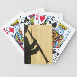 De speelkaarten van de Schaduw van de klarinet Poker Kaarten