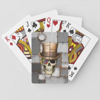 De Speelkaarten van de Schedel van Steampunk