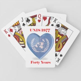 De Speelkaarten van de unis- Bijeenkomst