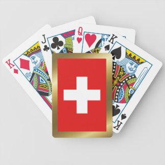 De Speelkaarten van de Vlag van Zwitserland Poker Kaarten