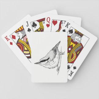 De Speelkaarten van de vogel - Nuthatch