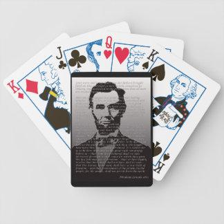 De Speelkaarten van het Adres van Abraham Lincoln  Bicycle Speelkaarten