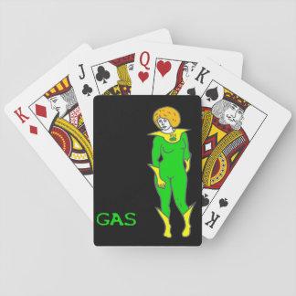 De Speelkaarten van het gas