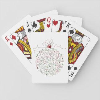 De Speelkaarten van het Ornament van Kerstmis