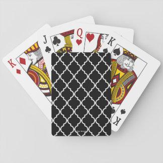 De Speelkaarten van het Patroon van Quatrefoil