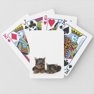 De Speelkaarten van het Puppy van Yorkshire Terrie Pak Kaarten