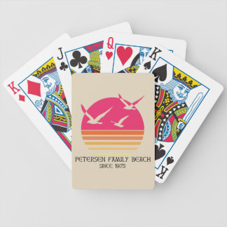De Speelkaarten van het Strand van de Familie van Pak Kaarten