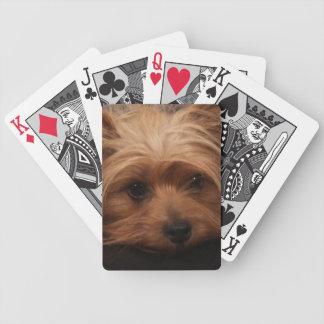 De Speelkaarten van Yorkshire Terrier Bicycle Speelkaarten