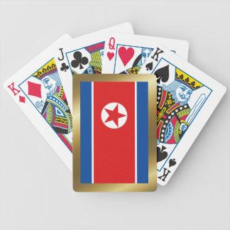 De Speelkaarten Vlag van de Noord- van Korea Pak Kaarten