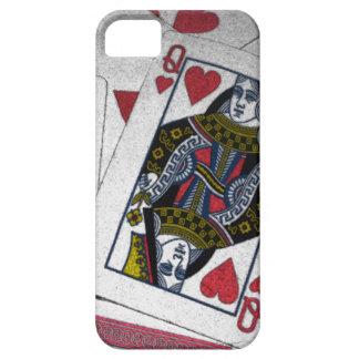 """De speelkaartiPhone 5 van de """"koningin van Harten"""" Barely There iPhone 5 Hoesje"""