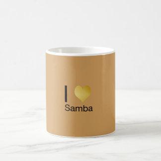 De speels Elegante Samba van het Hart van I Koffiemok