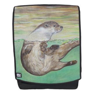 De speelse Otter van de Rivier Rugtassen