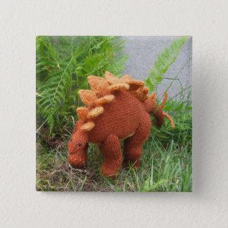 De speld-achterknoop van Stegosaurus Vierkante Button 5,1 Cm