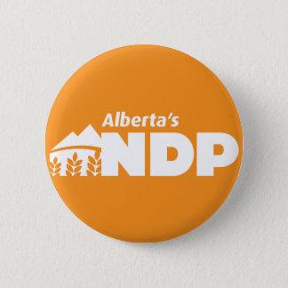 De Speld van Alberta NDP Ronde Button 5,7 Cm