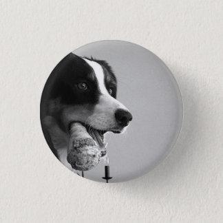 De Speld van de hond Ronde Button 3,2 Cm