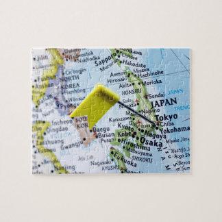 De speld van de kaart in Tokyo, Japan op kaart, cl Puzzel