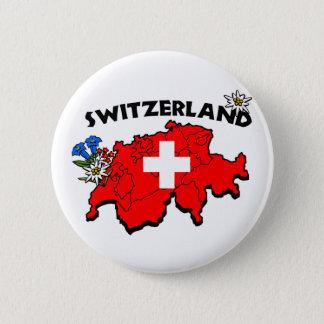 De Speld van de Kaart van Switz Ronde Button 5,7 Cm