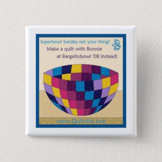 De Speld van de Kom van Bargello Vierkante Button 5,1 Cm