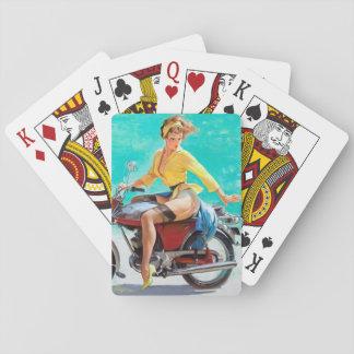 De Speld van de motorfiets omhoog Speelkaarten