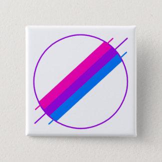 De Speld van de Trots van bi Vierkante Button 5,1 Cm