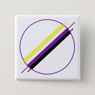 De Speld van de Trots van Nonbinary Vierkante Button 5,1 Cm