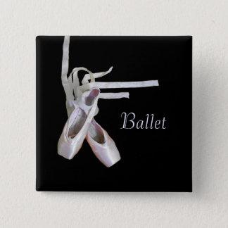 """De Speld van het """"ballet"""" Vierkante Button 5,1 Cm"""