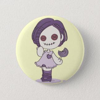 de speld van het zombiemeisje ronde button 5,7 cm
