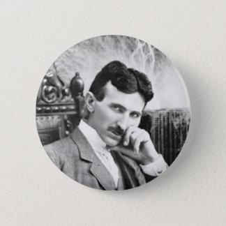 De Speld van Nikola Tesla Ronde Button 5,7 Cm