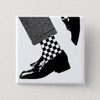 De Speld van Ska Vierkante Button 5,1 Cm