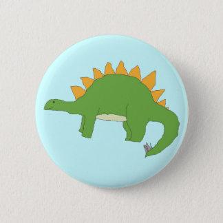 De speld van Stegosaurus Ronde Button 5,7 Cm