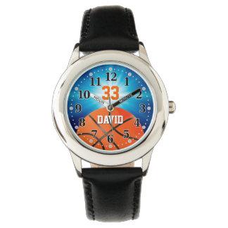 De Speler Nummer | van het basketbal Grappige Horloge