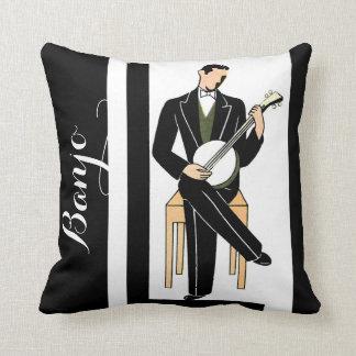 De Speler van de Banjo van Deco Sierkussen